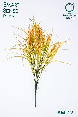 Smart sense set of 4 artificial yellow wheat grass bunch 17 inch smart sense set of 4 artificial yellow wheat grass bunch 17 inch bouquet arrangements junglespirit Images