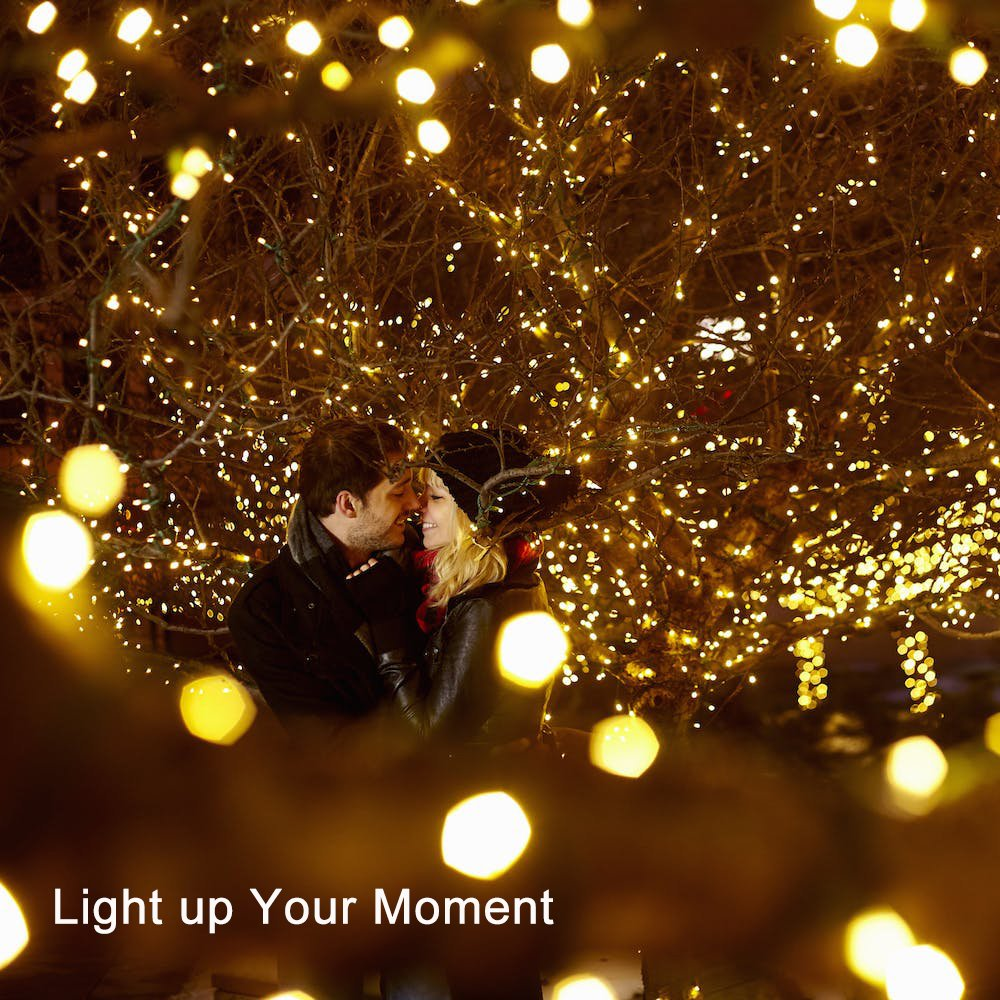 LED Battery String Lights with Remote Control,100 LED 33ft Waterproof Outdoor Lights, for Home Decor Indoor Copper Wire Warm Lights by Voneta (Image #5)