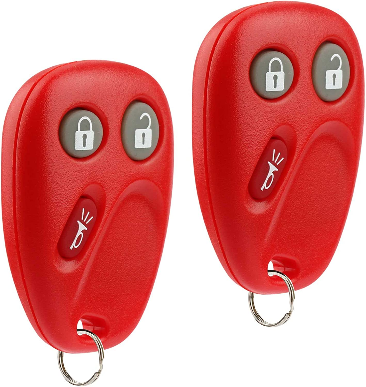 Key Fob Keyless Entry Remote fits Chevy Tahoe Suburban Silverado Avalanche Equinox SSR // GMC Sierra Yukon // Cadillac Escalade // Hummer H2 // Pontiac Torrent // Saturn Vue Set of 2 LHJ011 Blue