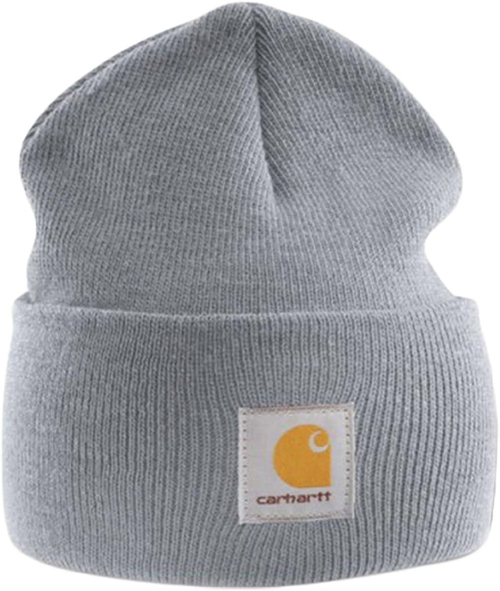 Carhartt Gorro Beanie Acrílico Gris A18HGY Sombrero: Amazon.es ...