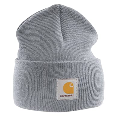 Carhartt - Acrylic Watch Cap - Grey branded beanie ski hat at Amazon ... 00f8924fcf4
