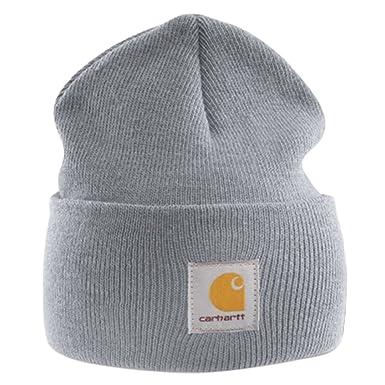 427d8a182eb Carhartt - Acrylic Watch Cap - Grey branded beanie ski hat  Amazon ...