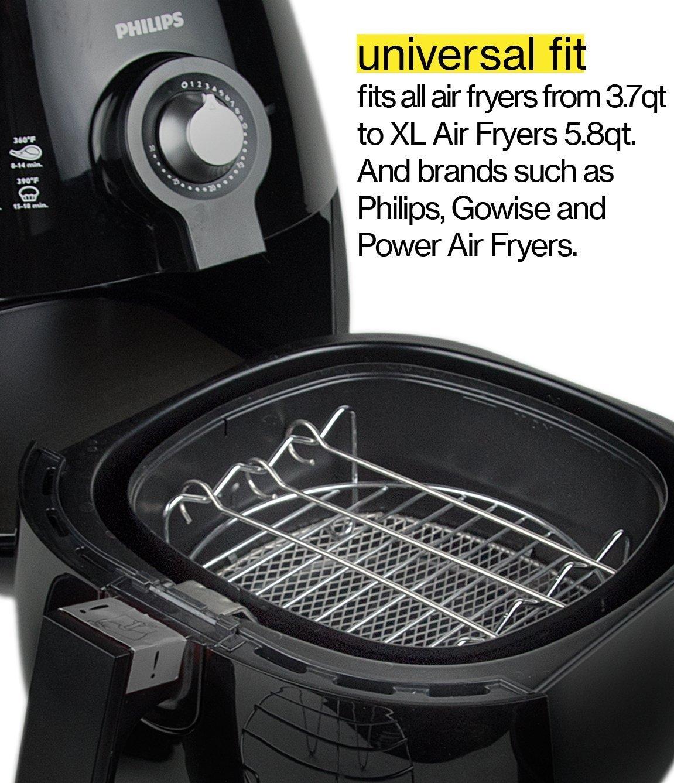 Aire Accesorios de la freidora, Lee s Bazaar freidoras accesorios Universal para GoWISE Phillips y cozyna, se adapta a todos los 3.2qt - 5.3qt - 5.8qt: ...