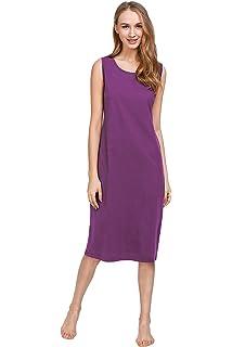 a672c7e5e4 Latuza - Camisa de Noche Larga sin Mangas de algodón para Mujer