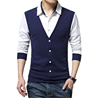 EYEBOGLER Men's Cotton Waist Coat Style Tshirt/T-Shirt