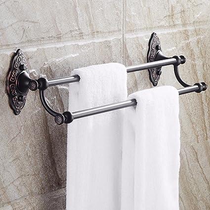 LISABOBO Soporte colgador de toallas de baño rampa Toallero estilo europeo 60cm