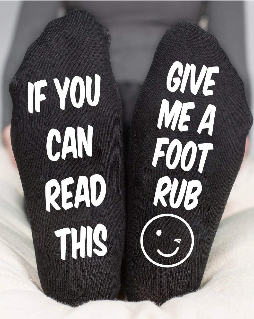 Foot Rub Socks Funny Maternity Gift If You Can Read This