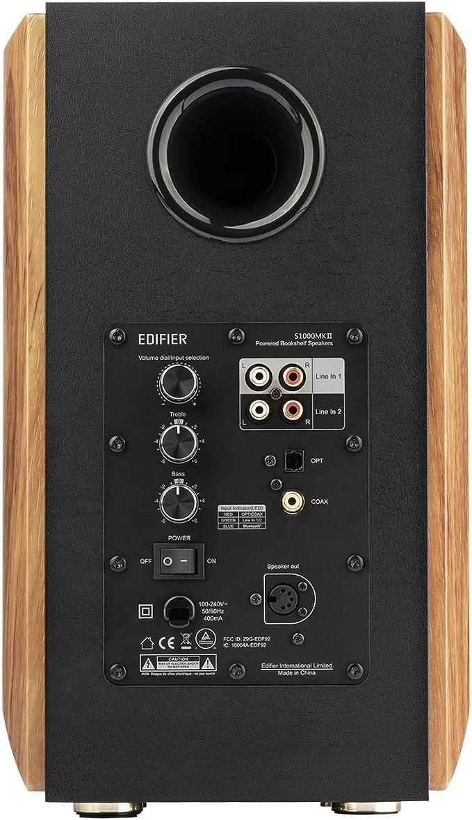 Edifier S1000mkii 2 0 Audiophile Active Shelf Speaker 120 Watt Speaker Bluetooth 5 0 With Aptx Hd Optical Input Active Monitor Near Field Speaker With Class D Amplifier Mp3 Hifi