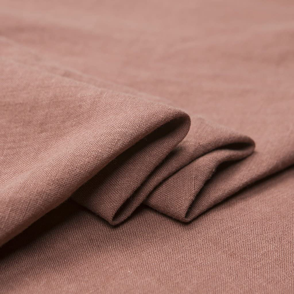 """Japan Nature 100% Linen Fabric for Clothing, Home Decor, Pillow, Sofa, 56"""" Width, Craft by The Yard, Russet-Red Color"""
