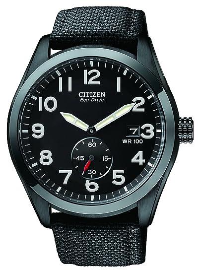 Citizen BV1085-06E - Reloj para hombre, correa de nailon color negro