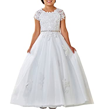 Amazon Wulidress Cap Sleeve Lace First Holy Communion Dresses