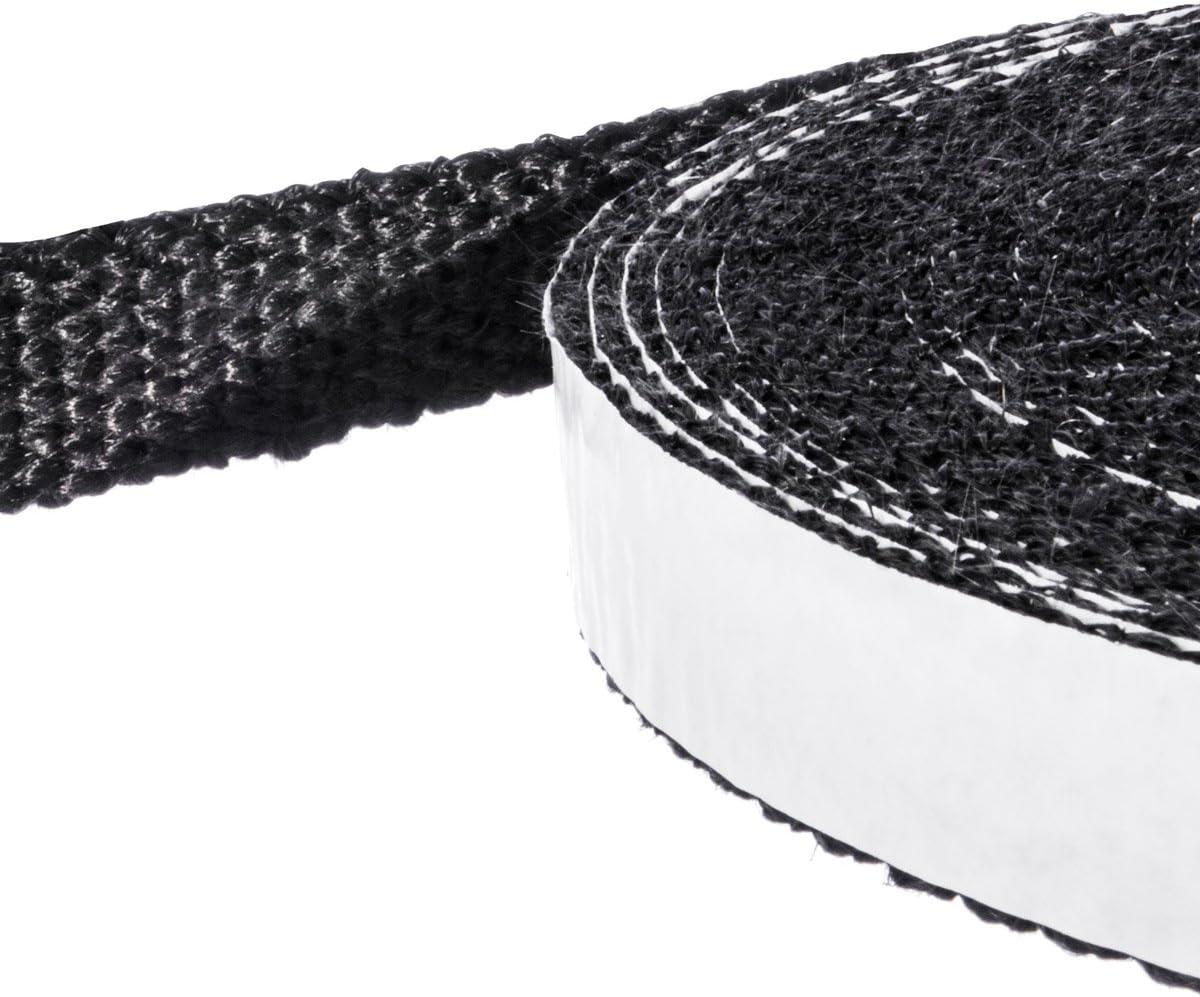 Scellant Noir R/ésistant /à la Temp/érature Constante jusqu/à 550 /° C STEIGNER Ruban Auto-Adh/ésif en Fibre de Verre SKD03 15x3 mm 3,5 m