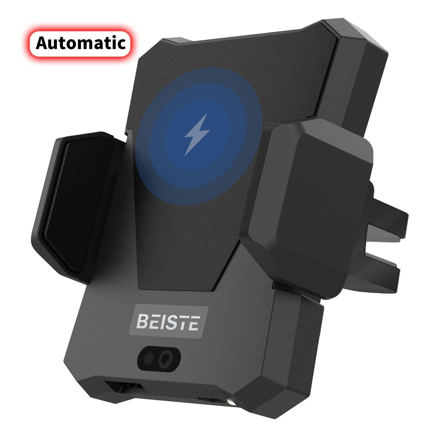 BEISTE Automatic Wireless Car Charger Air Vent Car Mount Phone Holder Cradle