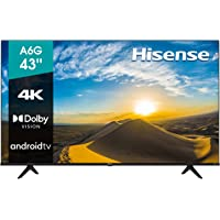 """Hisense 43"""" A6G 4K UHD Android TV con Control de Voz, HDR Dolby Vision (43A6G, 2021)"""