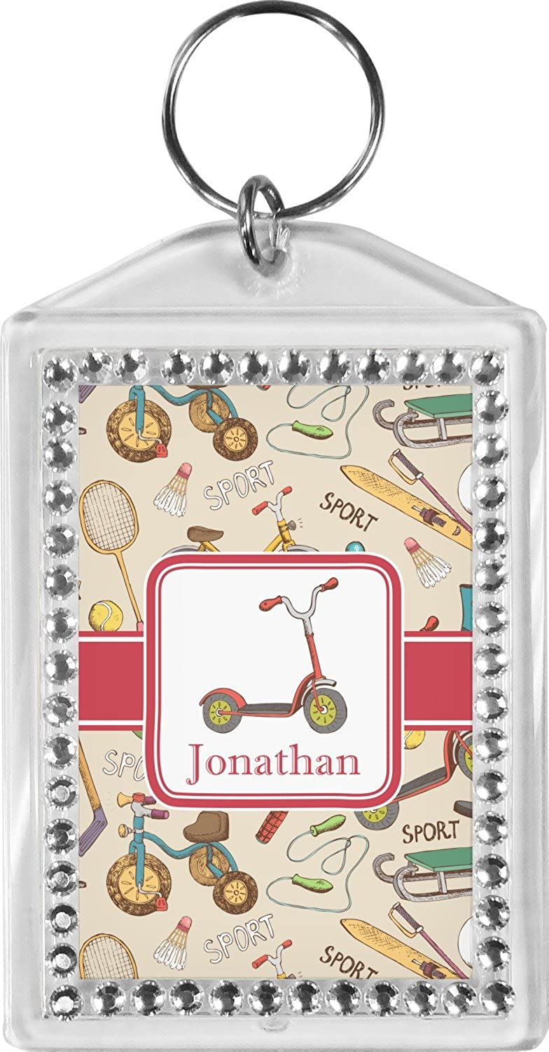 Vintage Sports Bling Keychain (Personalized)