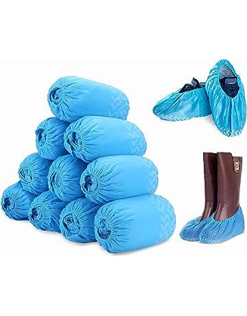 Pack de 100 fundas desechables para botas y zapatos, antideslizantes con patrón de rasgado,