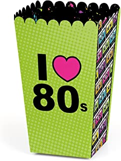 product image for 80's Retro - Totally 1980s Party Favor Popcorn Treat Boxes - Set of 12