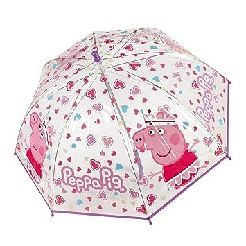 venta barata del reino unido comprar primera vista PEPPA PIG - Paraguas infantil transparente : color rosa o púrpura (Colores  surtidosNo se puede elegir)