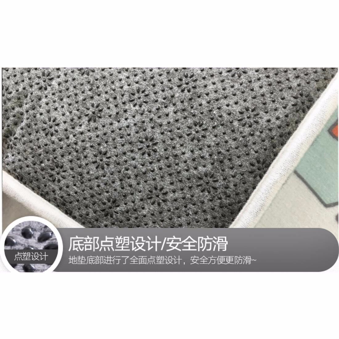 YISANLING-DT Teppich Creative Nordic geometrische Muster Bodenmatte ...