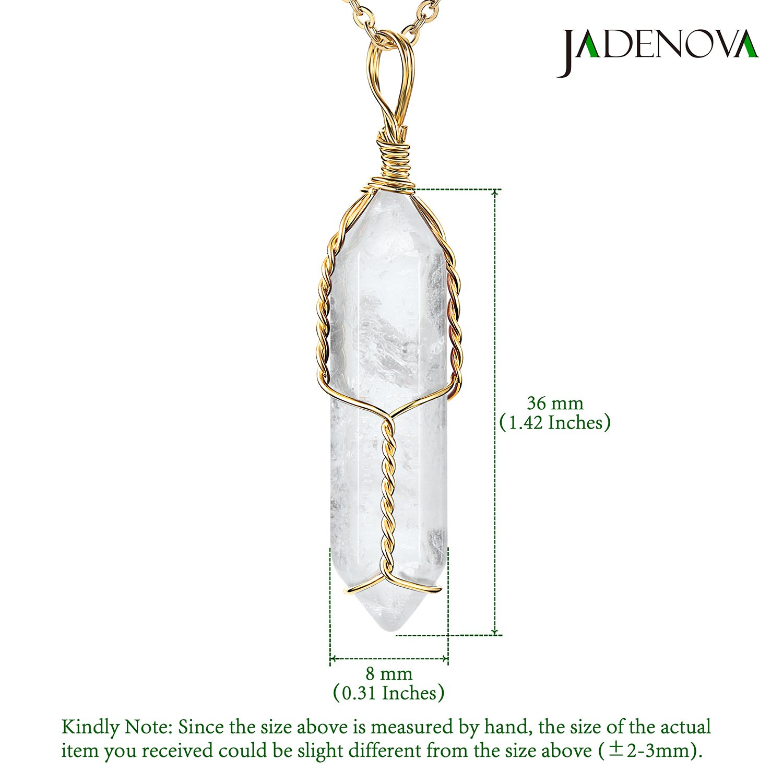 Amazon.com: JADENOVA Collar con colgante de cristal curativo ...