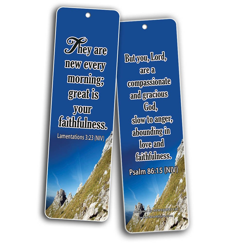 Popular Bible Verses About God's Love Bookmarks Cards (60-Pack) - Assorted Bulk Pack - John 3:16 Psalm 46:1 - Gift Ideas for Sunday School, Youth Group, Church Camp, Bible Study, Baptism, Homeschool by NewEights (Image #3)