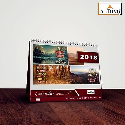 aldivo calendar 2018 2018 calendar table calendar 2018 desk calendar 2018 size