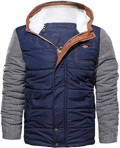 Chaqueta Invierno Hombre Abrigo cálido Ropa de algodón de Invierno para Hombre Chaqueta Deportiva de Manga Larga con Capucha Abrigo Grueso: Amazon.es: Ropa y accesorios