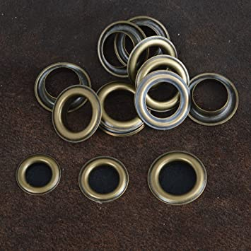 Scrapbooking 20 Sets ifsecond Antique Brass Eyelet Grommets w//Washers 4//5//6//8//10//12//14//17mm Ideal for Leather Craft Bags 12mm and Clothes Repair