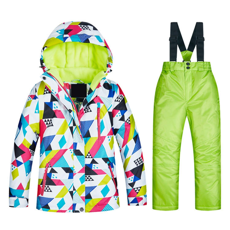 Nt01 et Vert M Keamallltd Filles Ski Combinaisons Imperméable à l'eau Hiver en Plein Air Sport Veste De Ski Et De Snowboard Costume Neige Veste pour Enfants Marques