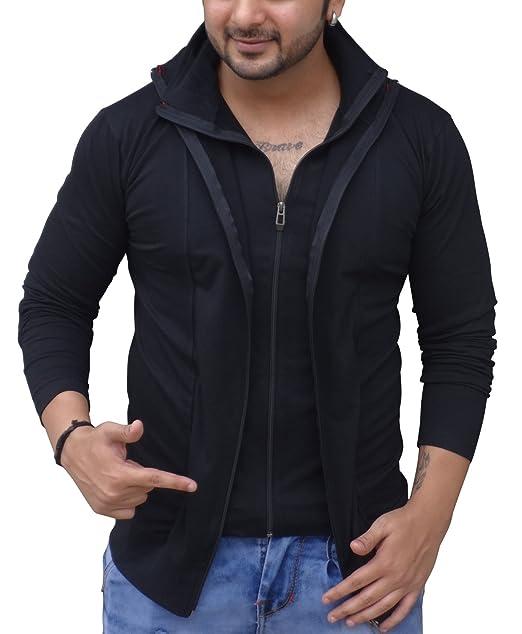 c51264b53c Black Collection Men s Plain Slim Fit T-Shirt (BCSA0002 Black Full M)