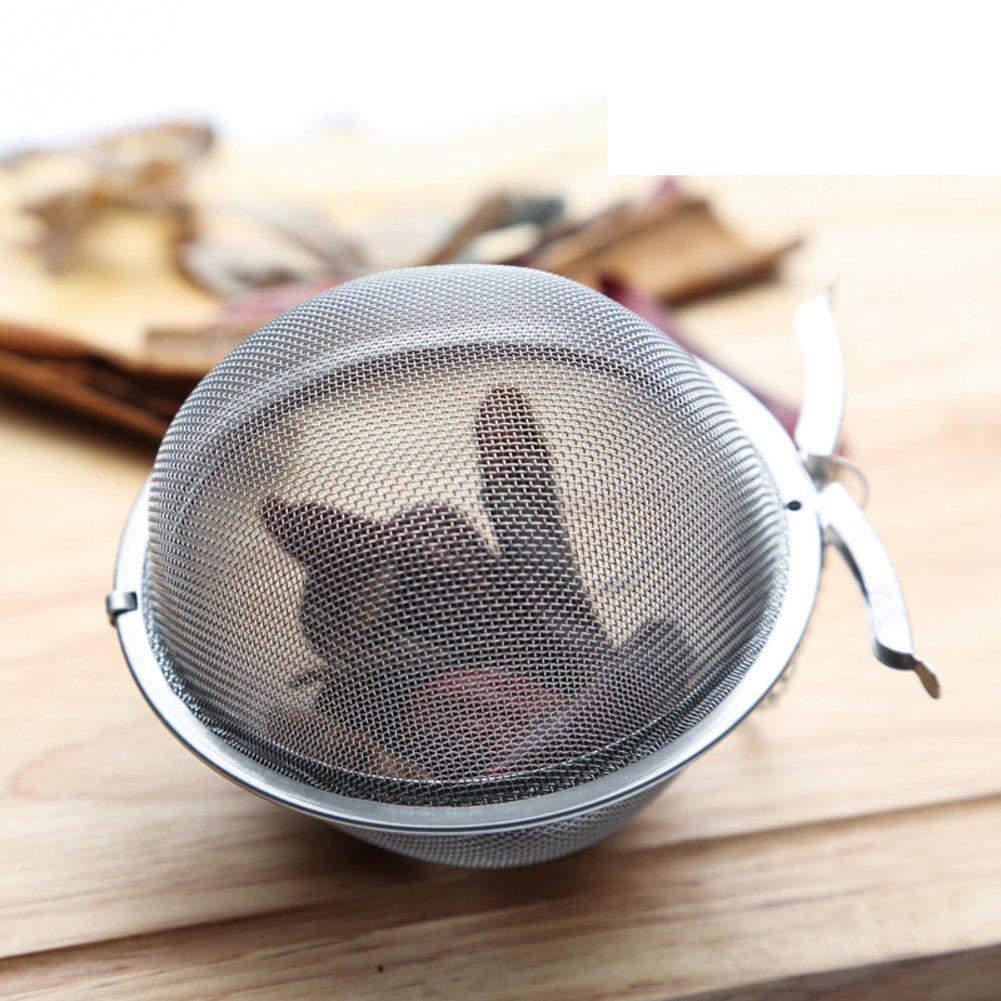Tesoro de acero inoxidable bola de veterano Especias bolsa material halógeno sopa filtro bola cocido bolsa-B