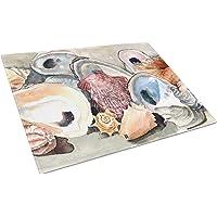 Caroline's Treasures Sea Shells Glass Cutting Board, Large, Multicolor