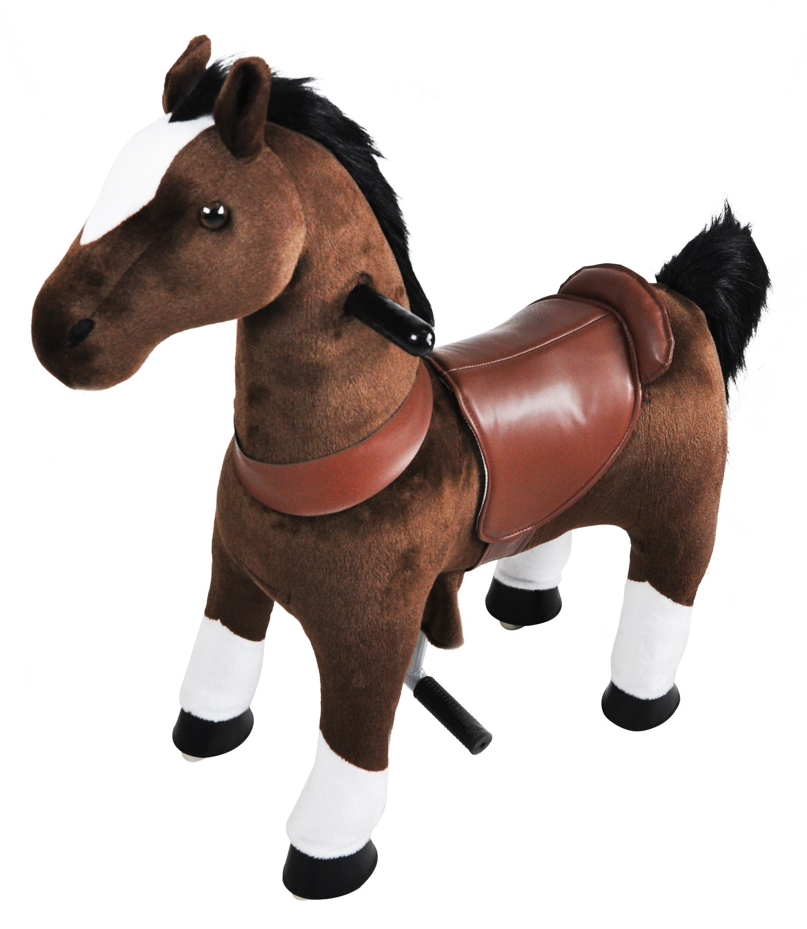 Mechanical Riding Horse Toy Simulated Horse Riding on Toy Ride-on Cycle Toys :More Comfortable Riding with Gallop Motion for Kids 3-6 Years