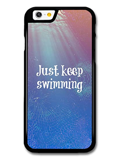designer fashion f5d63 c09f4 Amazon.com: Just Keep Swimming Animation Movie Quote case for iPhone ...