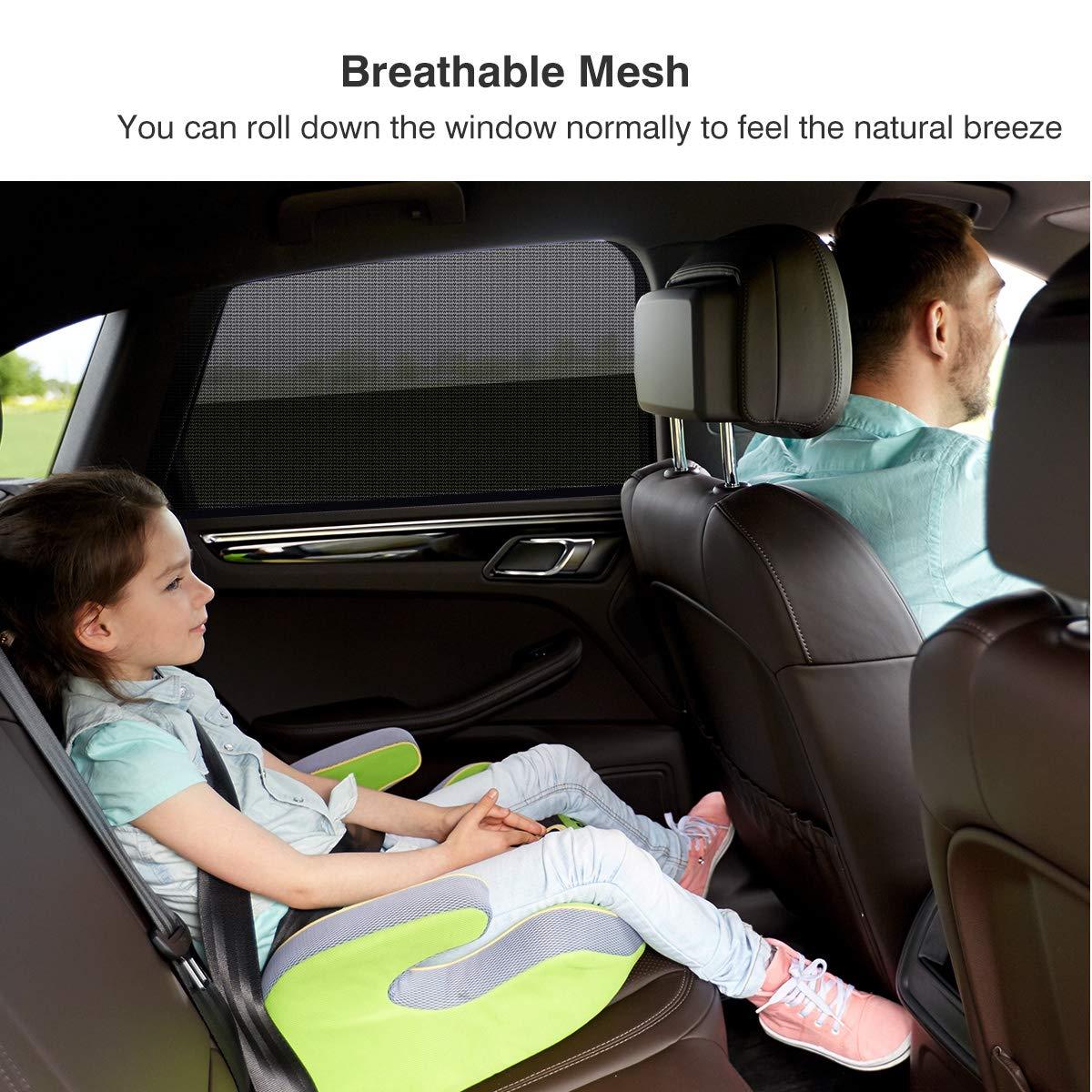 VETOMILE Auto Sonnenschutz Seitenscheibe f/ür Baby mit UV Schutz Tragbare Auto Sonnenblende max 55 x 53cm Autofenster Sonnenschutzrollos Heckscheibe
