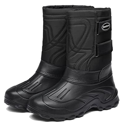 Men's Snow Boots For Cold Weather Winter Warm Outdoor Insulated With Comfortable Waterproof Boots