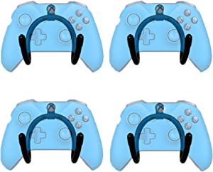 YYST Mini Flexible Wall Mount Holder Rack Organizer for Game Controller -4/PK- No Controller Included - Screw Cover Included - No Game Controller