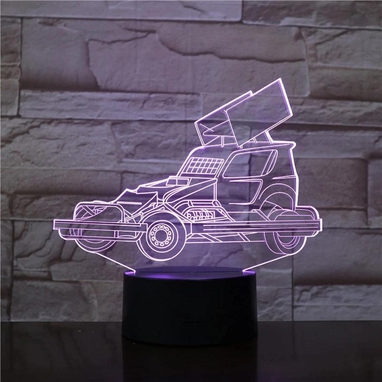 Luz de noche acrílica 3D para camión con grúa, accesorio de luz USB para dormir, lámpara de mesa con batería, decoración para dormitorio, regalo para niños, sin control remoto