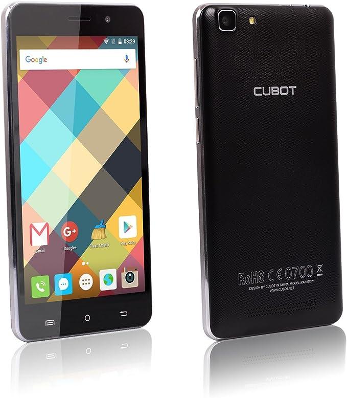Smartphone Cubot Rainbow, terminal libre, 3G, con licencia GMS Google y Android 6.0, 1 GB RAM, 16 GB ROM, Dual SIM, Dual Standby (2 Micro SIM + 1 SD), pantalla táctil de
