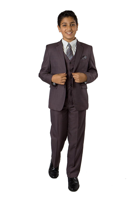 nice TAZIO Boys Suit Set 5 Piece Boys Suit Set Jacket, Vest, Pants and Dress Shirt included get discount
