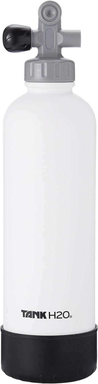 TankH2O Scuba Tanque de vacío Botella con Material Aislante de Agua: el Gran Regalo y Accesorios para los buceadores | Sostiene 700 ml | Cap BPA, Silicona Boot