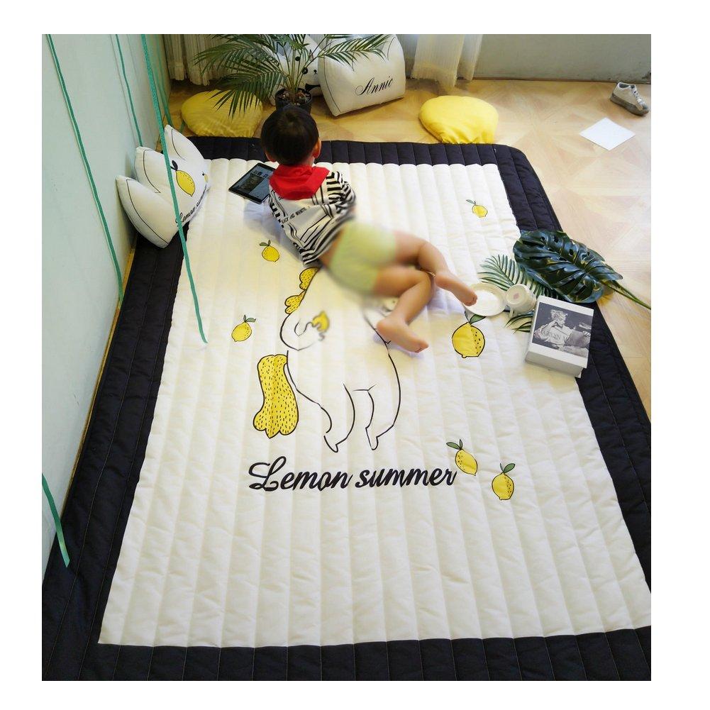 Northern America Style Polyester Rug - Heteromorphism Unicorn Baby Crawling Floor Mat 59 x 79 Inch
