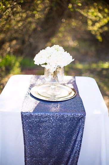 Navy Sequin Table Runner 14u0026quot; X 108u0026quot; Sequin TableCloth Wholesale Navy  Blue Sequin Table