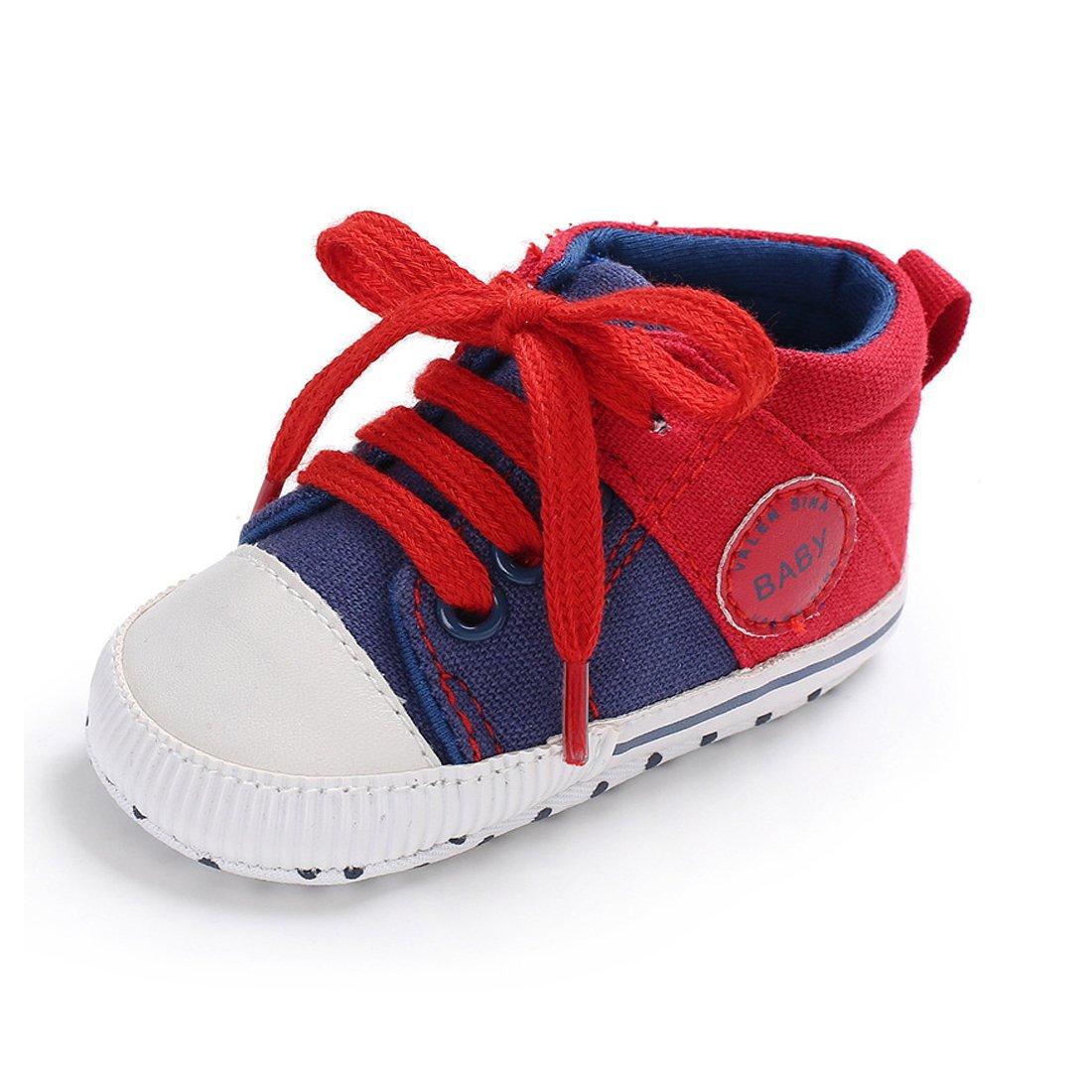 Babycute Kleinkind Schuhe Baby Junge M/ädchen Weiche Sohle Leinwand Sneaker