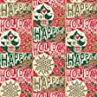 Jillson Roberts Recycled Christmas Gift Wrap, Holiday Woodblock, 6 Roll-Count