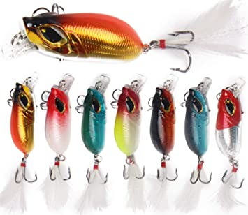 Fishing Minnow Lures Lead Fish Wibration VIB Lure Hard Metal Jig Artificial  Lure Fishing Wobbler Lure with Feather Treble Hooks Bass Tackle
