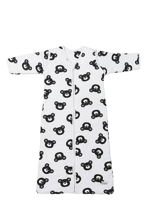 Meyco 514155 ganzjahres Saco de dormir oso X, 90 cm, color blanco y negro