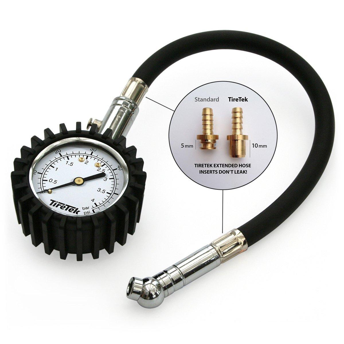 TireTek Flexi-Pro 4/bar Man/ómetro para neum/áticos de coche y motocicleta