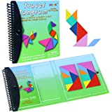Wallxin Magnetic Puzzle Tangram Jigsaw Game Travel Toys Education Challenge IQ Book
