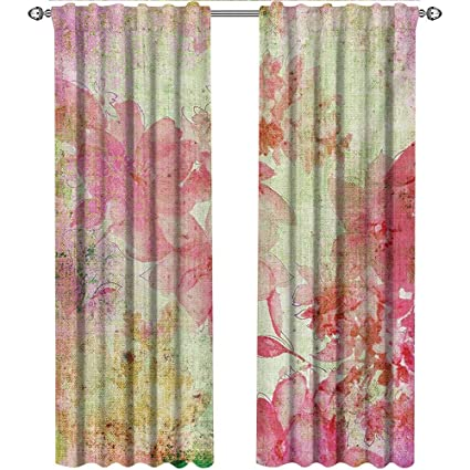 Amazon.com: shenglv Flower, Country Curtains Valance, Floral ...